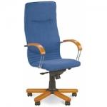Кресло руководителя - Nova wood chrome