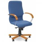 Кресло руководителя - Nova wood LB chrome