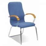 Кресло руководителя - Nova wood CFA LB chrome