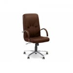 Кресло руководителя - Manager steel chrome